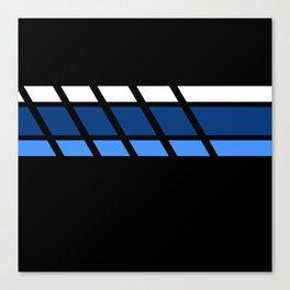 Team Colors 4 ..Aqua ,blue Canvas Print