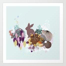 Easter bunny wonderland Art Print