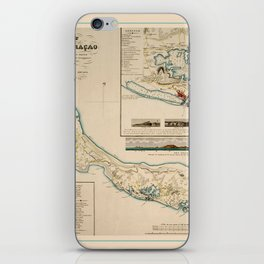 Map Of Curacao 1836 iPhone Skin