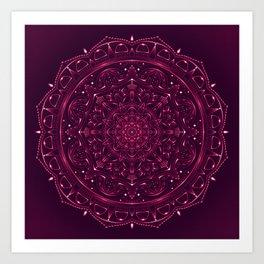 Mandala Violet Lace Art Print