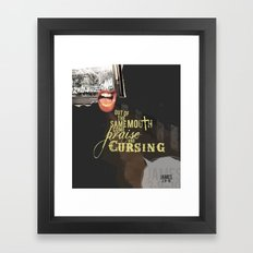 Out of the Same Mouth Framed Art Print