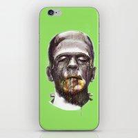 frankenstein iPhone & iPod Skins featuring Frankenstein by beart24