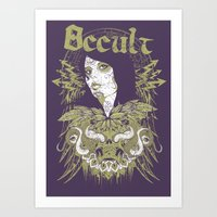 occult Art Prints featuring Occult beauty by Tshirt-Factory
