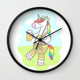 Unicorn Oktoberfest Wall Clock