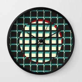 Red Exclusion Wall Clock