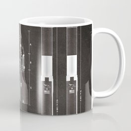 NASA SpaceX Crew Dragon Spacecraft & Falcon 9 Rocket Blueprint in High Resolution (black) Coffee Mug