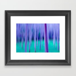 Abstract Trees in Blue Framed Art Print