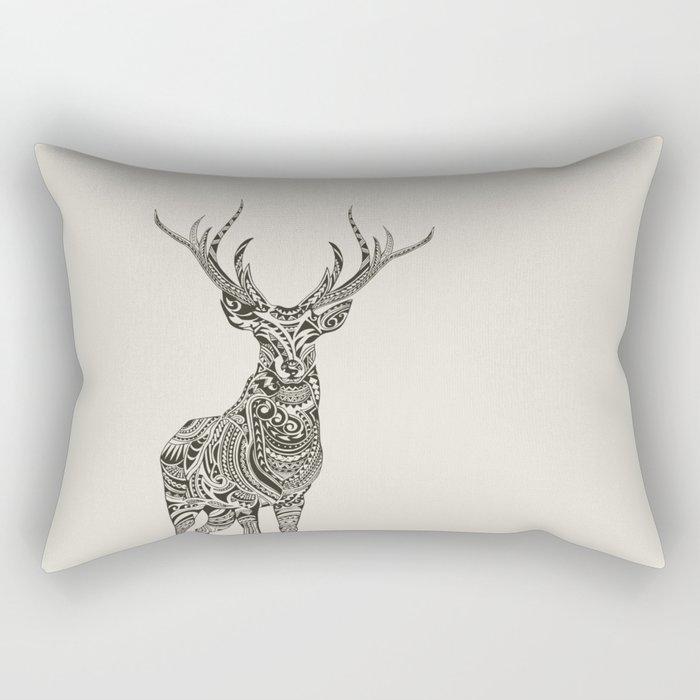 Polynesian Deer Rectangular Pillow