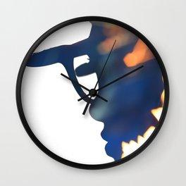 Fire Girl Wall Clock