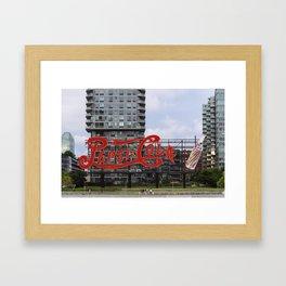 Cola sign at New York City Framed Art Print