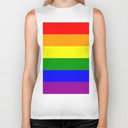 LGBT Gay Pride Flag Biker Tank