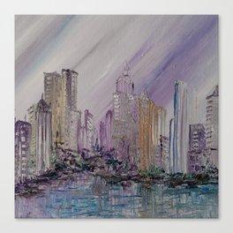 Purple Urban Sprawl Canvas Print