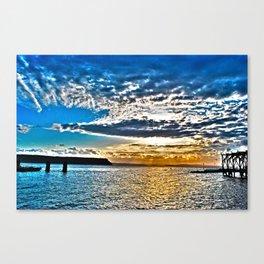 Waterfront Sunrise - Whidbey Island, WA Canvas Print