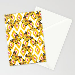 Butterflies and diamonds Stationery Cards