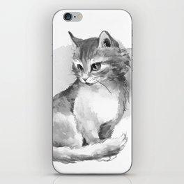 Cat. Watercolor iPhone Skin