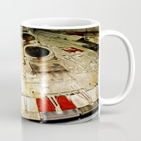 millenium falcon Mugs featuring Millenium Falcon Body by Ewan Arnolda