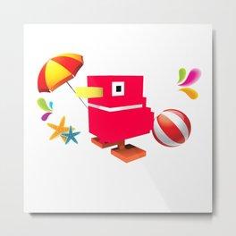 Duck Royale 3D - Game Paused Design Metal Print