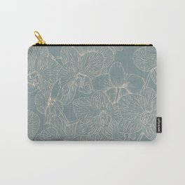 Blue Inked Orchids Carry-All Pouch