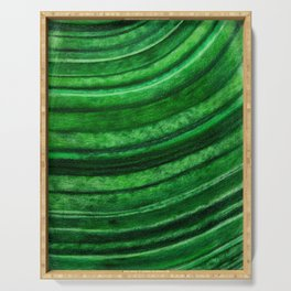 Green Malachite Mineral Serving Tray