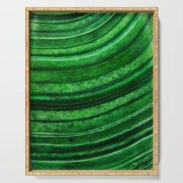 Green Malachite Mineral Serving Tray