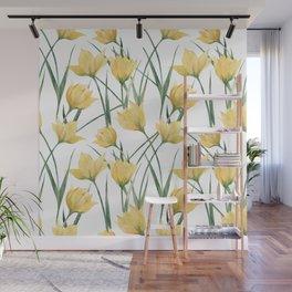 Yellow Woodland Tulips Wall Mural