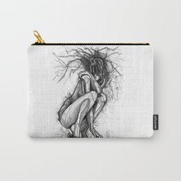 Sexy Woman Squatting Carry-All Pouch