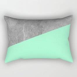 Geometry 101 Mint Meringue Rectangular Pillow