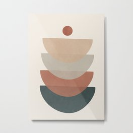 Minimal Shapes No.32 Metal Print