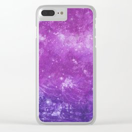 Pink and Purple Starry Sky Clear iPhone Case