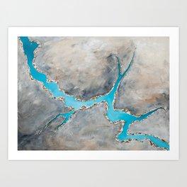 Sedimentary Topography Extended 2 Art Print