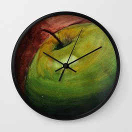 Fresh Green Apple Wall Clock