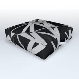 3D Futuristic GEO Lines V Outdoor Floor Cushion