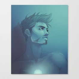 BLUE LIGHT Canvas Print