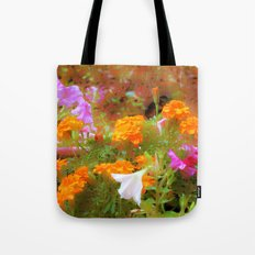 Every little garden seems to whisper a tune Tote Bag