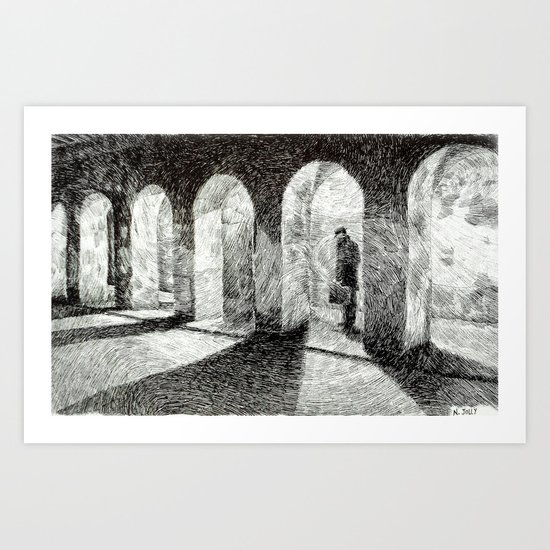 Fingerprint - Arcades Art Print