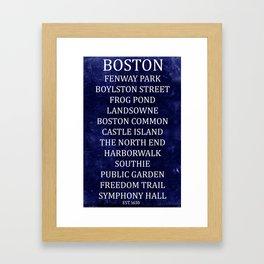 Boston 2 Framed Art Print