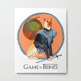 Game of Bones Brienne as a Great Dane Metal Print