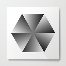 Metal Hexagon Metal Print