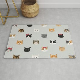 Cat heads cute pet gifts cat lover cat person must haves cat breeds Rug