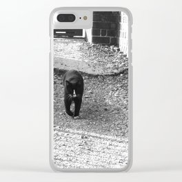 Railway Cat Greeting Clear iPhone Case