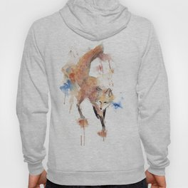 "Watercolor Painting of Picture ""Red Fox"" Hoody"