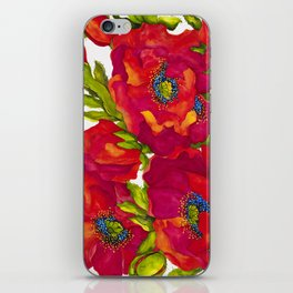 Bold Poppies iPhone Skin