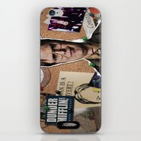 dwight schrute iPhone & iPod Skins featuring Dwight Schrute  by Susan Lewis
