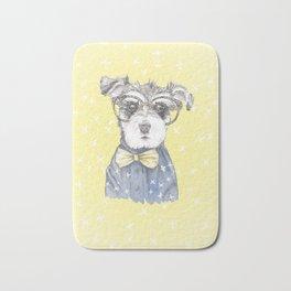 Schnauzer Dog Hipster Pup Bath Mat
