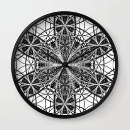 Down That Rabbit Hole - The Sacred Geometry Collection Wall Clock