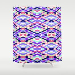 Smart Diagonals Coral Shower Curtain