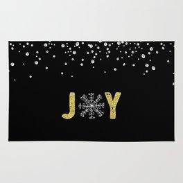 JOY w/White Snowflakes Rug