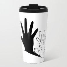 Rabbit Hand Shadow Travel Mug