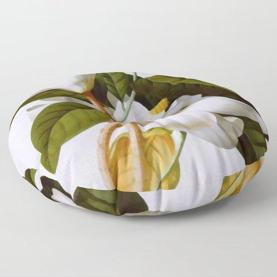 Vintage Botanical White Magnolia Flower Art by vickybragomitchell