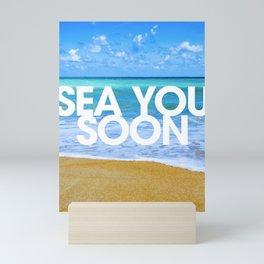 Sea you soon [Santorini, Greece] #3 Mini Art Print